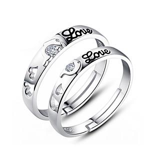 ieftine Împachetare Bijuterii & Ecrane-Pentru cupluri Inele Cuplu inel de înfășurare 2pcs Plastic femei Modă Nuntă Petrecere Bijuterii / Zirconiu