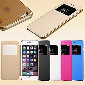 ieftine Carcase iPhone-Maska Pentru iPhone 5 / Apple iPhone SE / 5s / iPhone 5 cu Fereastră / Auto Sleep / Wake / Întoarce Carcasă Telefon Mată Greu PU piele