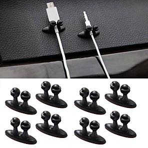ieftine Console & Organizatoare-ziqiao 8pcs accesorii de interior multifuncțional adeziv linie de încărcare pentru mașină clemă incuietoare căști / cablu USB clip auto
