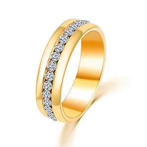 ieftine Inele-Pentru femei Band Ring inel de filare Groove Inele Zirconiu Cubic diamant mic Auriu Argintiu Zirconiu Circle Shape Declarație femei Clasic Nuntă Petrecere Bijuterii Rundă Iubire Ajustabil