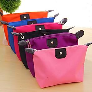 hesapli Banyo Gereçleri-seyahat eklemek taşınabilir kozmetik çanta organizatörü çanta astar düzenli makyaj seyahat tuvalet çantası (rastgele renk)