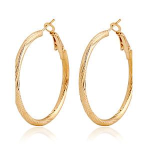 ieftine Breloc-Pentru femei Cercei Rotunzi Imens cercei Bijuterii Auriu Pentru Nuntă Petrecere Zilnic Casual