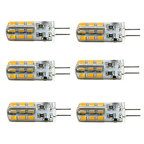 ieftine Becuri LED Corn-jiawen 6pcs a condus g4 bec lampă dc 12v 24-2835smd lumina reflectoarelor 360 unghi de fascicul înlocuiește pentru candelabru de cristal