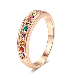 ieftine HDMI-Pentru femei Band Ring inel de filare Cristal 18K Placat cu Aur Aliaj femei Lux stil minimalist Petrecere Bijuterii