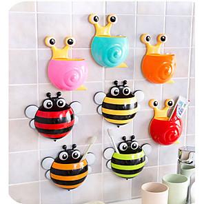 levne Koupelnové gadgety-kreativní karikatura zvíře kočárek držák na kartáček na kávu koupelna produkty doplňky na stěnu držák stojan na zubní pastu držák štětce