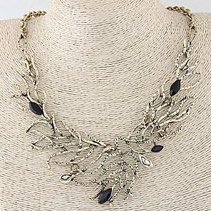 levne Módní náhrdelníky-Dámské Prohlášení Náhrdelníky dámy Vintage Evropský Módní Slitina Stříbrná Bronzová Náhrdelníky Šperky Pro Svatební Párty Denní Ležérní Plesová maškaráda Zásnuby