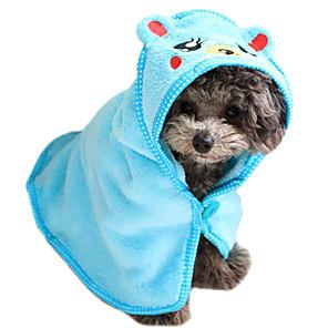 ieftine Câini Articole şi Îngrijire-Pisici Câine Curăţare Prosop Catifea cord Băi Απαλό Drăguț Animale de Companie  Accesorii de Ingrijire Maro Alb Albastru