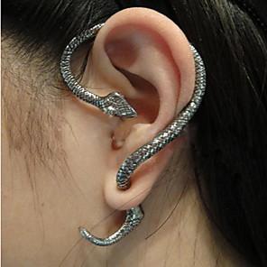 hesapli Küpeler-Kadın's Kulak Manşetleri Dağcı Küpe Yılan İfade Bayan Küpeler Mücevher Bronz / Gümüş Uyumluluk Halloween Günlük