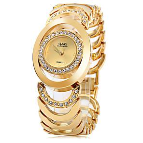 povoljno Prstenje-Žene dame Luxury Watches Modni sat Narukvica Pogledajte Japanski Kvarc Nehrđajući čelik Srebro / Zlatna 30 m Casual sat Analog Moda Elegantno - Zlato Pink Gold / Silver Dvije godine Baterija Život