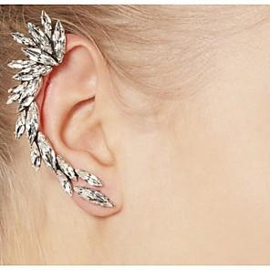 ieftine Cercei-Pentru femei Cătușe pentru urechi Cățărătorii de urechi Căști de cățărare femei Modă Elegant De Fiecare Zi Ștras cercei Bijuterii Argintiu Pentru Zilnic