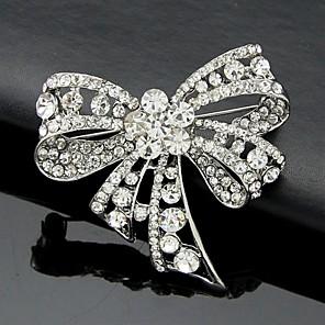 ieftine Broșe-Pentru femei Broșe Nod Funda femei Birou Modă Cute Stil De Fiecare Zi Cristal Zirconiu Cubic Broșă Bijuterii Argintiu Pentru Nuntă Petrecere Ocazie specială Aniversare Zi de Naștere Cadou