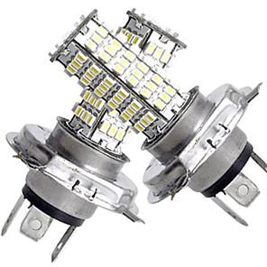cheap LED Car Bulbs-2pcs H4 Car Light Bulbs SMD 3528 3200 lm 120 LED Headlamps For