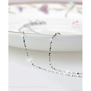 ieftine Colier la Modă-Pentru femei Lanțuri  Lănțișor femei Petrecere Modă Plastic Placat cu platină Argintiu Alb Argintiu Coliere Bijuterii Pentru Zilnic