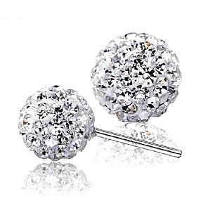 ieftine Carcase iPhone-Pentru femei Diamant Zirconiu Cubic diamant mic Cercei Stud Χάντρες femei Plastic Zirconiu Argintiu cercei Bijuterii Argintiu Pentru Nuntă Petrecere Zilnic Casual Sport Mascaradă