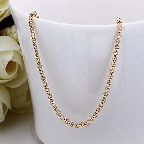 ieftine Colier la Modă-Pentru femei Lănțișoare Foxtail lanț femei Dubai 18K Placat cu Aur Aur Alb Auriu Coliere Bijuterii Pentru