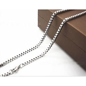 ieftine Coliere-Bărbați Lănțișoare Oțel titan Argintiu Coliere Bijuterii Pentru Cadouri de Crăciun Zilnic Casual