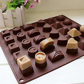 ieftine Ustensile & Gadget-uri de Copt-30 cavitate silicon inima rotund ciocolată mucegai gheață mucegai tava