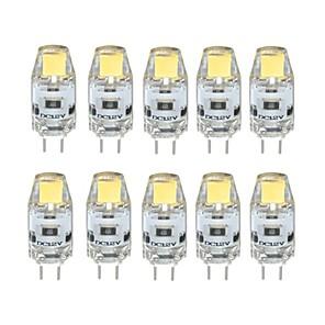 ieftine Becuri LED Glob-10pcs 1 W Becuri LED Bi-pin 100 lm G4 T 1 LED-uri de margele COB Intensitate Luminoasă Reglabilă Alb Cald Alb Rece 12 V / 10 bc / RoHs