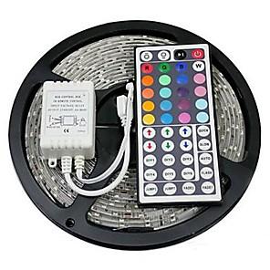 ieftine Fâșii Becurie LED-zdm 5m 300 x 5050 benzi led de 10 mm rgb flexibile și telecomandă ir 44key conectabile auto-adezive care schimbă culoarea