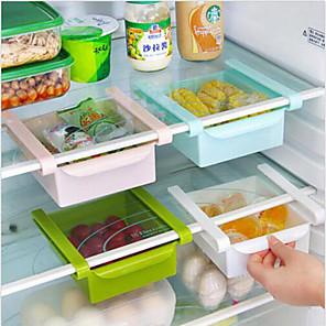 ieftine Stocare și Organizare-spațiu bucătărie frigider diy protectorul de diapozitiv organizator sub raft de depozitare suport de bare