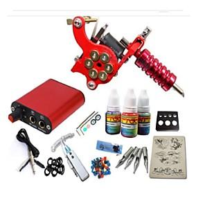 ieftine ace de tatuat, gripuri & vârfuri-BaseKey Masina Tatuaje Set de început, 1 pcs Mașini de tatuat cu 1 x 20 ml cerneluri tatuaj - 1 x aparat de tatuat din oțel pentru linii