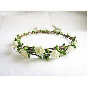 ieftine Bijuterii de Păr-Pentru femei Fete Cordeluțe Fascinators Bijuterii pentru Frunte Pentru Nuntă Petrecere Ocazie specială Zilnic Floare Flori Hârtie Mov Galben Roz