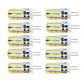 ieftine Becuri LED Corn-lungime 10 buc g4 dimmable 2.5w 24d smd2835 porumb lumina alb / cald alb / ac12v / dc12v / ac220v