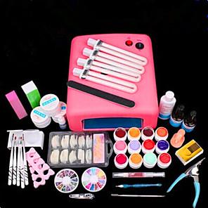 ieftine Produse Fard-PVC Strălucire Unelte pentru unghii Nail Art Kit Pentru deget Multifuncțional / Reparații nail art pedichiura si manichiura Șic & Modern / Punk / La modă