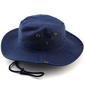ieftine Mănuși pescuit-Căciulă Soare Καπέλο πεζοπορίας Boonie pălărie Pălării Permeabilitate Aer Înaltă (>15,001g) Απαλό Material Ușor camuflaj 100% Poliester Primăvară Vară Toamnă pentru Bărbați Pentru femei Pescuit