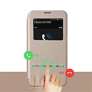 ieftine Carcase iPhone-Maska Pentru Samsung Galaxy S8 Plus / S8 / S7 edge cu Fereastră / Întoarce Carcasă Telefon Mată PU piele