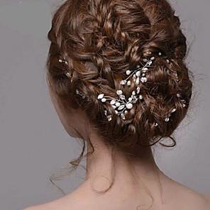 ieftine Bijuterii de Păr-Pentru femei Agrafe de păr Pentru Nuntă Petrecere Cristale / Strasuri Perle Cristal Alb / Imitație de Perle / Aliaj