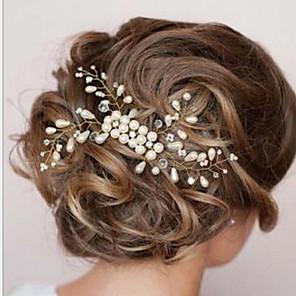 ieftine Bijuterii de Păr-Pentru femei Piepteni de Păr Pentru Nuntă Petrecere Perle Alb