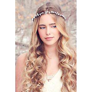 ieftine Piepteni-Pentru femei Cordeluțe Fascinators Bijuterii pentru Frunte Pentru Nuntă Petrecere Zilnic Casual Material Textil Alb