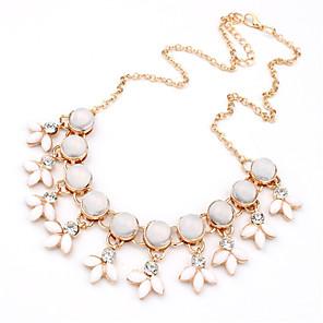 levne Módní náhrdelníky-Dámské Prohlášení Náhrdelníky Prohlášení Vintage Módní Slitina Bílá Náhrdelníky Šperky Pro Svatební Párty Denní Ležérní Práce