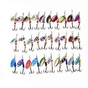 ieftine Momeală Pescuit-30 pcs Δόλωμα Momeală Dură Buzzbait & Momeli spinnerbait Pachete momeală Momeli filator Scufundare Scufundare Rapidă Bass Păstrăv Ştiucă Pescuit mare Aruncare Momeală Filare MetalPistol