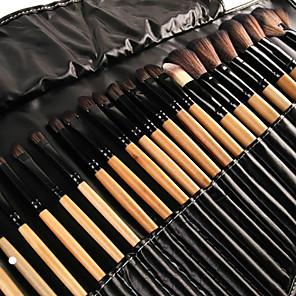 ieftine Produse Fard-Profesional Machiaj perii Seturi perie 32pcs Ecologic Acoperire Integrală Perie Fibre Artificiale Lemn Pensule de Machiaj pentru