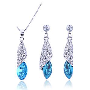 ieftine Inele-Pentru femei Zirconiu Cubic diamant mic Seturi de bijuterii Cercei Picătură Coliere cu Pandativ Solitaire Marchiză Picătură femei Modă Elegant de Mireasă De Fiecare Zi Plastic Zirconiu Ștras cercei