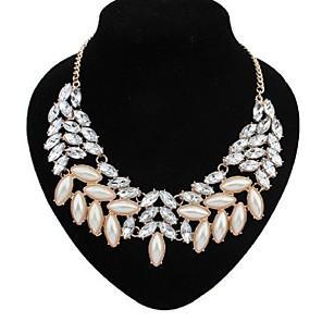 ieftine Colier la Modă-Pentru femei Perle Coliere Choker Coliere Κολιέ με Πέρλες Declarație femei European Modă Perle Aliaj Alb Coliere Bijuterii Pentru Petrecere