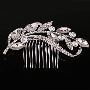 ieftine Bijuterii de Păr-Pentru femei Piepteni de Păr Pentru Nuntă Petrecere Petrecere Nuntă Cristale / Strasuri Cristal Imitație de Perle Argintiu