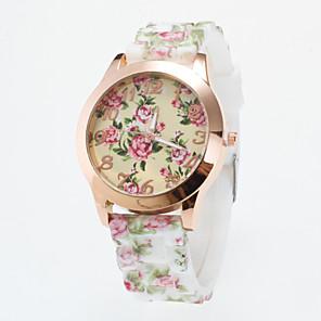 ieftine Ceasuri Damă-Pentru femei Ceas de Mână Quartz Silicon Multicolor Ceas Casual Analog femei Floare Casual Modă - Verde Albastru Roz Un an Durată de Viaţă Baterie / Tianqiu 377