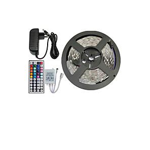 ieftine Benzi Lumină LED-Benzi flexibile cu led 5m / seturi de lumini / lumini cu bandă rgb 150 leduri 5050 smd 10mm telecomanda rgb / rc / cuttable / dimmable 12 v / linkable / autoadeziv / schimbătoare de culori / ip44