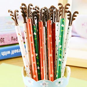 ieftine Ustensile & Gadget-uri de Copt-Stilou Stilou Pixuri cu Gel Stilou, Plastic Negru Culori de cerneală For Rechizite școlare Papetărie Pachet de