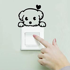 ieftine Acțibilde de Decorațiuni-Peisaj / Animale Perete Postituri Animal Stickers de perete Autocolante Întrerupătoare, Vinil Pagina de decorare de perete Decal Perete Decor / Lavabil / Detașabil