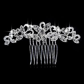 ieftine Bijuterii de Păr-Pentru femei Piepteni de Păr Pentru Nuntă Petrecere Petrecere Nuntă Cristal Diamante Artificiale Argintiu Argintiu