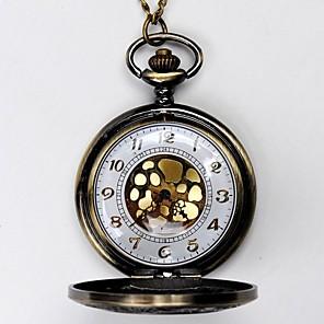 povoljno Muški satovi-Muškarci Džepni sat Kvarc Vintage Style Classic Style žuta Hollow graviranje Analog Šarm