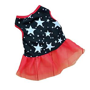 ieftine Imbracaminte & Accesorii Căței-Pisici Câine Rochii Stele Casul / Zilnic Îmbrăcăminte Câini Negru Costume Bebeluș Caine mic Terilenă XS S M L