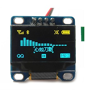 "preiswerte Module-0,96 ""Zoll gelb und blau i2c iic serielle 128x64 oled lcd oled LED-Modul für Arduino Anzeige 51 msp420 stim32 scr"