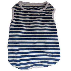 ieftine Carcase iPhone-Câine Tricou Îmbrăcăminte Câini Alb / Roșu Alb / Albastru Costume Bumbac Dungi Inimă Cute Stil XS S M L