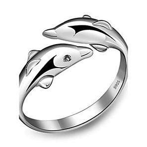 ieftine Inele-Pentru femei Band Ring inel de înfășurare degetul mare Argintiu Plastic Argintiu femei Neobijnuit Design Unic Nuntă Petrecere Bijuterii Iubire Ieftin