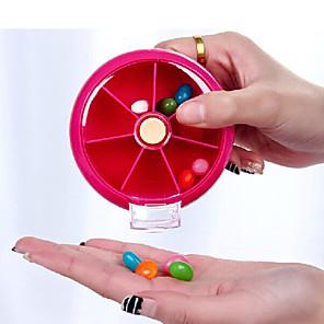 ieftine Cabluri de Adaptor AC & Curent-Carcasă Cutie Pilule Călătorie Portabil Accesorii Călătorie pentru Urgență Plastic 9*9*2.2cm cm